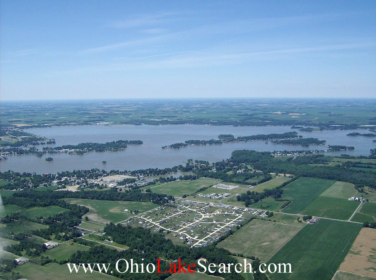 Aerial View Indian Lake Ohio