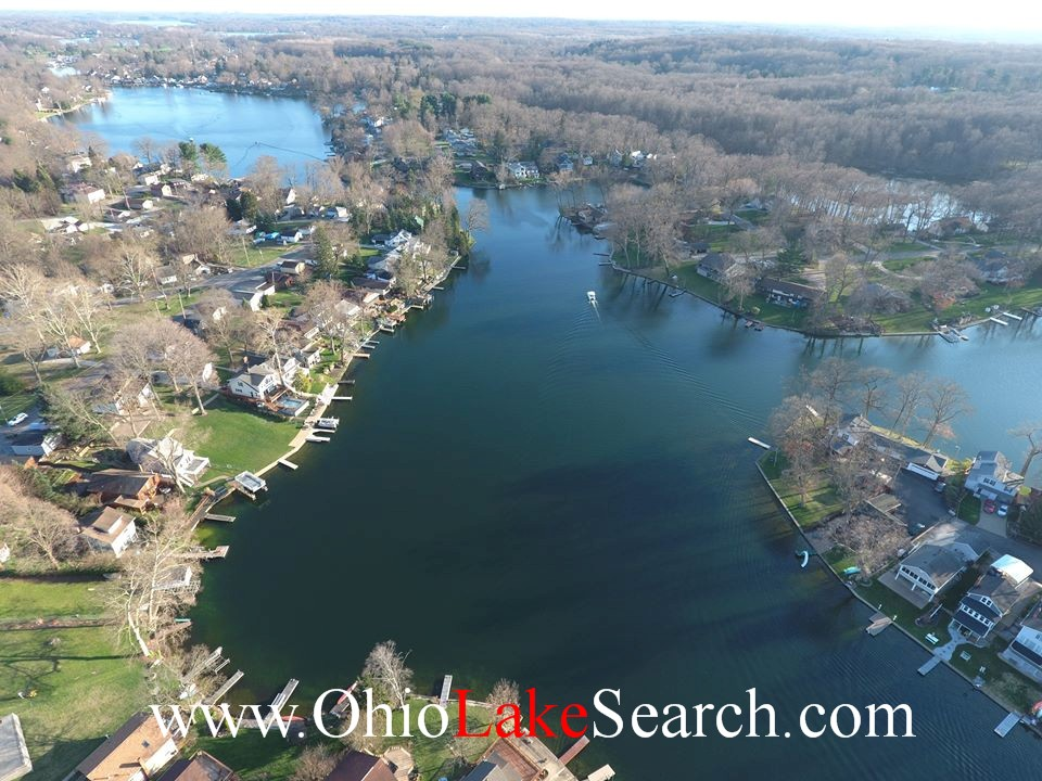 Aerial View Portage Lakes Ohio