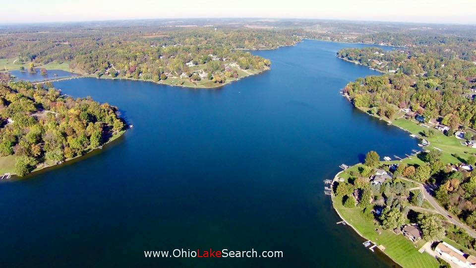 Lake Mohawk Ohio Aerial View